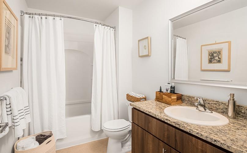 Premium finishes in the bathroom.